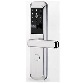 povoljno Brave za vrata-Factory OEM LD-A9 Tikovina Inteligentno zaključavanje Smart Home Security sistem RFID / Otključavanje otiska prsta / Otključavanje zaporke Za dom / ured Sigurnosna vrata (Način otključavanja Otisak
