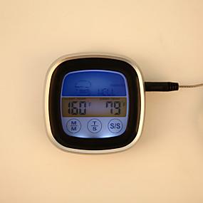 voordelige Super Korting-ts-s62 digitale kleurrijke touchscreen oven thermometer direct lezen sonde koken voedsel bbq keuken thermometer