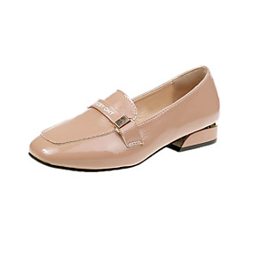 voordelige Damesinstappers & loafers-Dames Loafers & Slip-Ons Blokhak PU Informeel Zomer Lichtbruin / Wit / Zwart