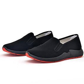 baratos Sapatilhas e Mocassins Masculinos-Homens Sapatos de Condução Algodão Outono / Primavera Verão Clássico Mocassins e Slip-Ons Caminhada Respirável Preto