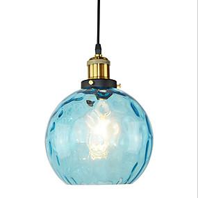 billige Hengelamper-moderne restaurant blå glass anheng lett bar soverom glass lampe diameter 20cm