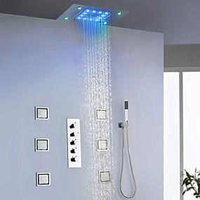 billige Forbedringer til hjemmet-Dusjkran - Moderne Krom / Malte Finishes Vægmonteret Keramisk Ventil Bath Shower Mixer Taps
