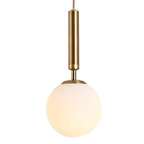 billige Hengelamper-JSGYlights Sirkelformet / Mini Anheng Lys Omgivelseslys galvanisert Malte Finishes Metall Glass Mini Stil 110-120V / 220-240V Varm Hvit / Hvit