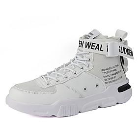 baratos Tênis Masculino-Homens Sapatos Confortáveis Lona / Couro Ecológico Outono / Outono & inverno Esportivo / Casual Tênis Branco / Laranja / Amarelo