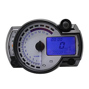 abordables Nouvelles arrivées en août-moto compteur de vitesse numérique lcd jauge compteur de vitesse tachymètre compteur kilométrique instrument