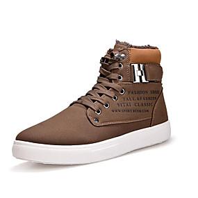 baratos Tênis Masculino-Homens Sapatos Confortáveis Camurça Outono & inverno Tênis Botas Curtas / Ankle Cinzento / Marron / Khaki