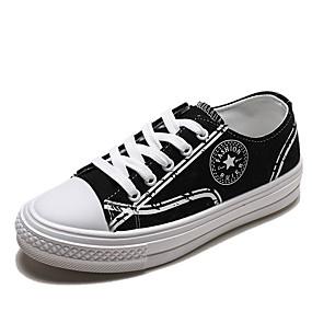 voordelige Damesschoenen met platte hak-Dames Platte schoenen Platte hak Gesloten teen PU Zomer Wit / Zwart / Geel