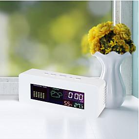 voordelige Super Korting-ts-s65 digitale lcd-thermometer hygrometer 050 thermometer met alarm snooze-functie kleurweergave weersvoorspelling klok