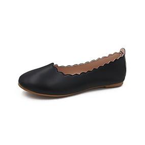 voordelige Damesschoenen met platte hak-Dames Platte schoenen Blok hiel PU Zomer Zwart / Groen / Geel
