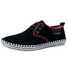 baratos Tênis Masculino-Unisexo Sapatos Confortáveis Camurça Outono / Primavera Verão Vintage / Temática Asiática Tênis Caminhada Respirável Preto / Cinzento / Azul