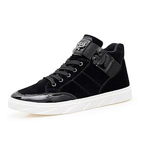 baratos Tênis Masculino-Homens Sapatos Confortáveis Camurça Primavera Casual Tênis Use prova Preto / Azul Escuro