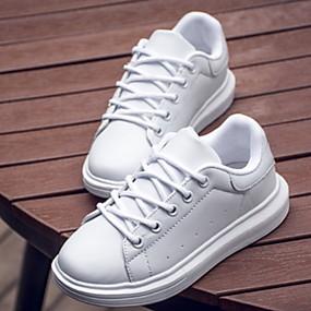 voordelige Damessneakers-Unisex Sneakers Platte hak Synthetisch Lente & Herfst Zwart / Wit / Goud