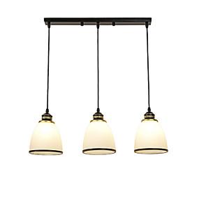 billige Hengelamper-3-Light Cluster / Øy / Bowl Anheng Lys Omgivelseslys Malte Finishes Metall Glass Kreativ, Justerbar, Bedårende 110-120V / 220-240V