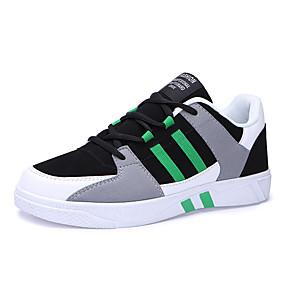 baratos Tênis Masculino-Homens Sapatos Confortáveis Camurça / Couro Ecológico Primavera / Outono Casual Tênis Absorção de choque Branco e Preto / Vermelho / Verde