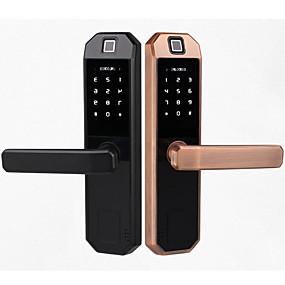 halpa Lukko-809 sinkkiseos Älykäs lukko Smart Home Security järjestelmä sormenjälki lukituksen / salasanan lukituksen / lukituksen Koti / Toimisto Turvaovet / Kupariovi / Puinen ovi (Lukitustila) Sormenjälki