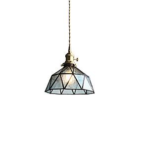 billige Sales-nordisk messing glass midtgangen lys veranda bar restaurant balkong sengeplass pendantslys