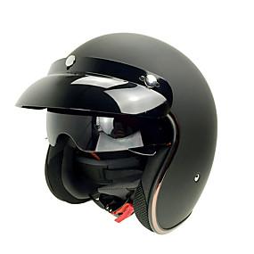 abordables Nouvelles arrivées en août-casque de moto rétro soman avec visière intérieure scooter vintage sm510