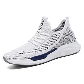 voordelige Damessneakers-Unisex Sneakers Blok hiel Netstof Lente & Herfst Zwart / Wit / Rood