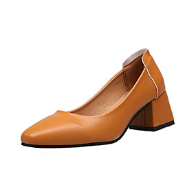 voordelige Damesinstappers & loafers-Dames Loafers & Slip-Ons Blokhak Vierkante Teen PU Zomer Zwart / Wit / Bruin