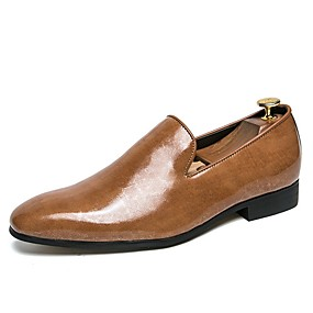 baratos Sapatilhas e Mocassins Masculinos-Homens Sapatos Confortáveis Microfibra Verão Mocassins e Slip-Ons Preto / Vermelho Escuro / Amarelo