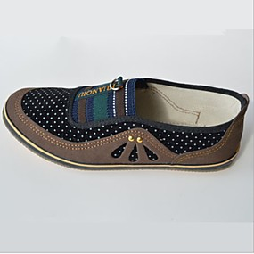 voordelige Damesinstappers & loafers-Dames Loafers & Slip-Ons Platte hak Ronde Teen Canvas Zomer Zwart / Rood