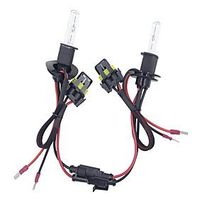 abordables Nouvelles arrivées en août-2pcs / set 55w h3 caché kit de conversion ampoules de phare au xénon 3000-12000k pour kit de voiture typebulb * 2 ballast * 2 temperature temperature5000k / 6000k