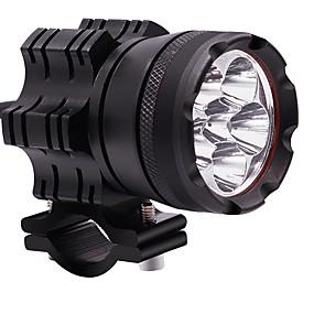 abordables 50%OFF-2pcs 60w moto lampe 12v lumière constante imperméable à l'eau six perles led phare