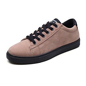 baratos Tênis Masculino-Homens Sapatos Confortáveis Couro Ecológico Outono Casual Tênis Não escorregar Preto / Marron / Cinzento