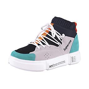 voordelige Damessneakers-Dames Sneakers Creepers Ronde Teen Suède Wandelen Herfst winter Groen / Rood / Blauw