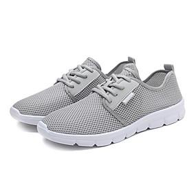 baratos Sapatos Esportivos Masculinos-Homens Sapatos Confortáveis Com Transparência Primavera Verão Casual Tênis Corrida Respirável Preto / Branco / Cinzento