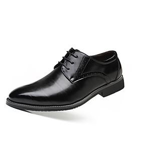 baratos Oxfords Masculinos-Homens Sapatos formais Couro Sintético Primavera Verão / Outono & inverno Oxfords Preto / Amarelo / Vermelho / Festas & Noite