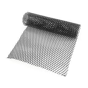 voordelige Auto frontgrille decoratie-auto zilver / zwart aluminium voorbumper rhombic grill mesh plaat (10x20mm)