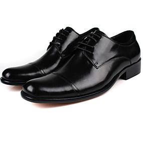 baratos Oxfords Masculinos-Homens Sapatos de couro Couro Verão Oxfords Preto / Marron