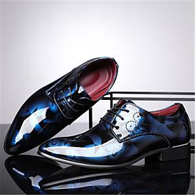 baratos Oxfords Masculinos-Homens Sapatos Confortáveis Couro Sintético Primavera / Verão Oxfords Respirável Dourado / Vermelho / Azul