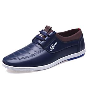 baratos Oxfords Masculinos-Homens Sapatos Confortáveis Sintéticos Outono / Primavera Verão Oxfords Preto / Camel / Azul