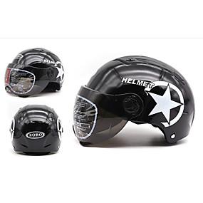 billige Nyankomne i august-motorsykkelhjelm halv åpent ansikt justerbar størrelse beskyttelseshjelm hjelm