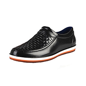 baratos Sapatilhas e Mocassins Masculinos-Homens Sapatos Confortáveis PVC Verão Casual Mocassins e Slip-Ons Respirável Preto / Castanho Escuro / Azul Escuro