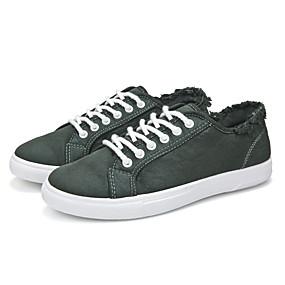 baratos Tênis Masculino-Homens Sapatos Confortáveis Microfibra Primavera Verão / Outono & inverno Tênis Preto / Verde / Branco