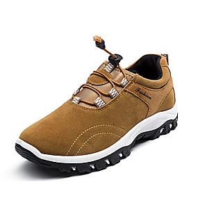 baratos Sapatos Esportivos Masculinos-Homens Sapatos Confortáveis Couro Ecológico Outono Esportivo Tênis Aventura Não escorregar Preto / Azul Escuro / Cinzento