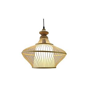 abordables Plafonniers-pays bambou tissé lumière pendante de la salle à manger pendant de la salle à manger