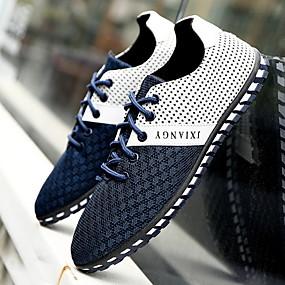 baratos Oxfords Masculinos-Homens Sapatos Confortáveis Com Transparência Verão Oxfords Preto / Azul Escuro