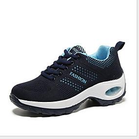 baratos Sapatos Esportivos Femininos-Mulheres Tênis Sem Salto Ponta Redonda Com Transparência Corrida Verão Preto / Preto / Vermelho / Fúcsia