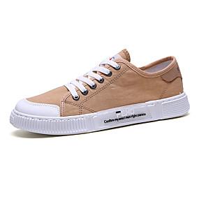 baratos Tênis Masculino-Homens Sapatos Confortáveis Couro Ecológico Verão Tênis Preto / Branco / Khaki