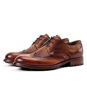 baratos Oxfords Masculinos-Homens Sapatos formais Couro Primavera Oxfords Preto / Marron