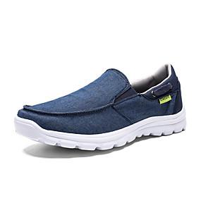 baratos Sapatilhas e Mocassins Masculinos-Homens Sapatos Confortáveis Lona Verão Casual Mocassins e Slip-Ons Não escorregar Azul / Cinzento
