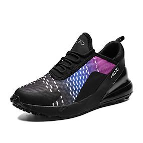 baratos Sapatos Esportivos Masculinos-Homens Sapatos Confortáveis Tecido elástico Primavera / Outono Esportivo / Casual Tênis Corrida Respirável Preto / Roxo / Azul