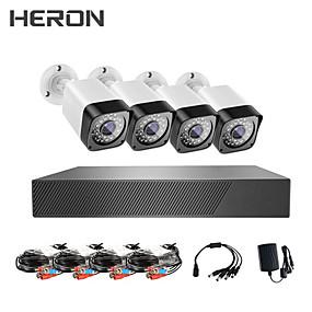 Недорогие Системы безопасности-HDMI 1080p (1920 * 1080) 4 шт. 1080p комплект камеры видеонаблюдения монитор видеонаблюдения Ahd DVR комплект камеры комплект камеры системы видеонаблюдения водонепроницаемый