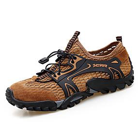 baratos Sapatos Esportivos Masculinos-Homens Sapatos Confortáveis Com Transparência Primavera Verão Clássico Tênis Tênis Anfíbio Respirável Slogan Preto / Verde / Marron