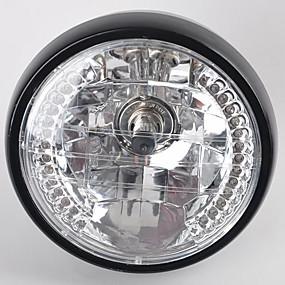 billige Nyankomne i august-7 tommers 35w h4 motorsykkel frontlys blinklys halogen frontlys for harley bwm suzuki kawasaki