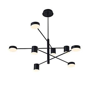 billige Sales-8 lys ledet industrielle lysekrone / omgivende lys svart malt for stue soverom 110-120v / 220-240v / varm hvit / hvit